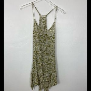 Umgee spaghetti strap sun dress green & White